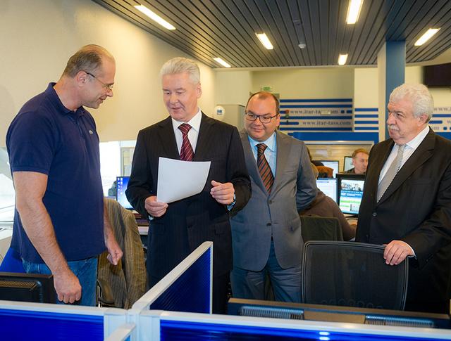 Сергей Собянин посетил информационное агентство ИТАР-ТАСС