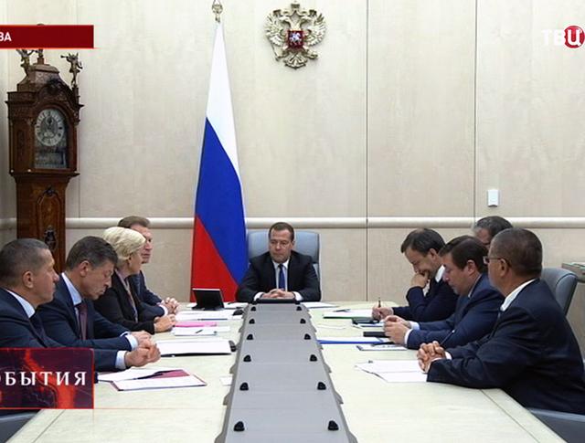Премьер-министр Дмитрий Медведев провел совещание с вице-премьерами РФ