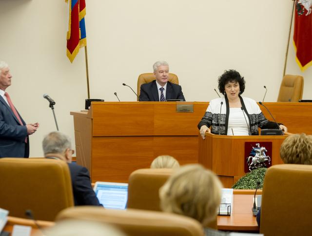 Сергей Собянин на первом заседании городской думы шестого созыва