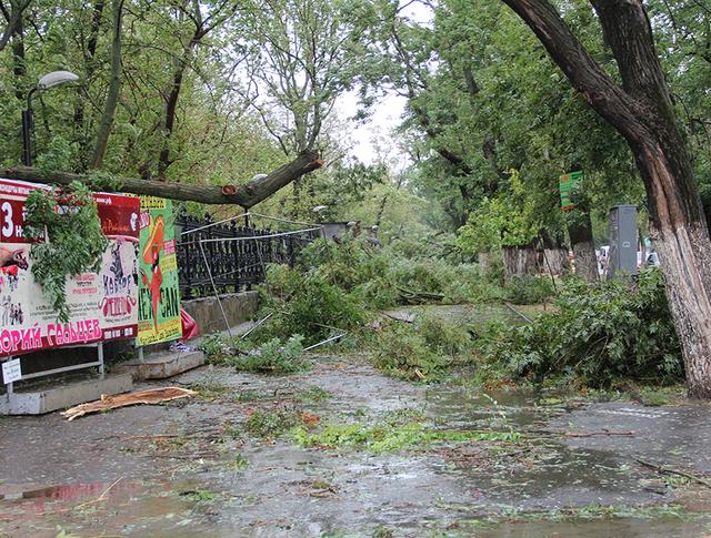 Последствия урагана в Ростовской области