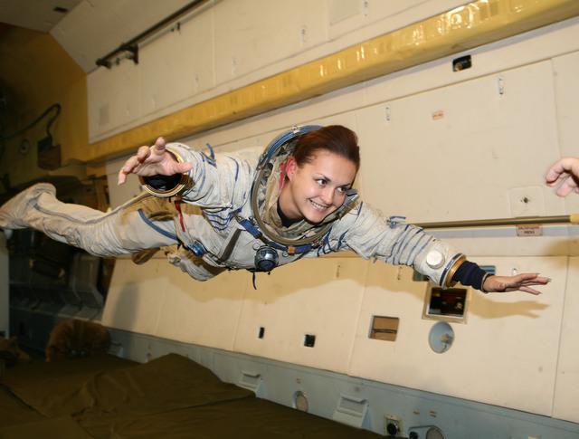 Российская женщина-космонавт Елена Серова