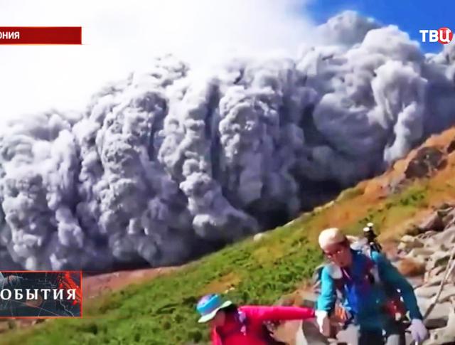 Извержения японского вулкана Онтакэ