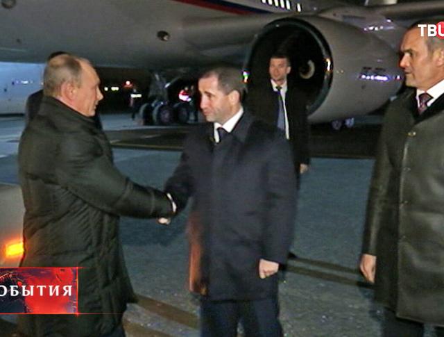 Владимир Путин прибыл в республику Чувашия