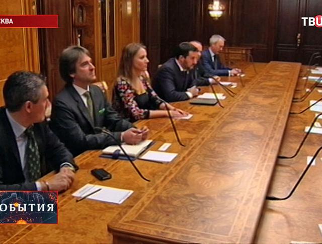 """Итальянская партия """"Лига Севера"""" приехала в Москву"""