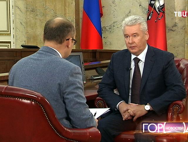 Сергей Собянин дает интервью Алексею Фролову