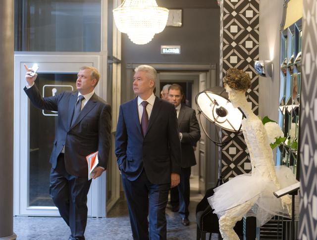 Сергей Собянин на открытии новой сцены Московского драматического театра имени Марии Ермоловой