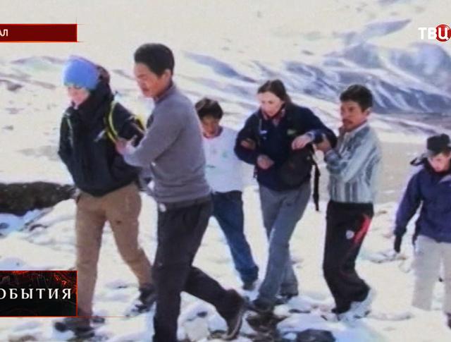 Спасательная операция в горах Непала