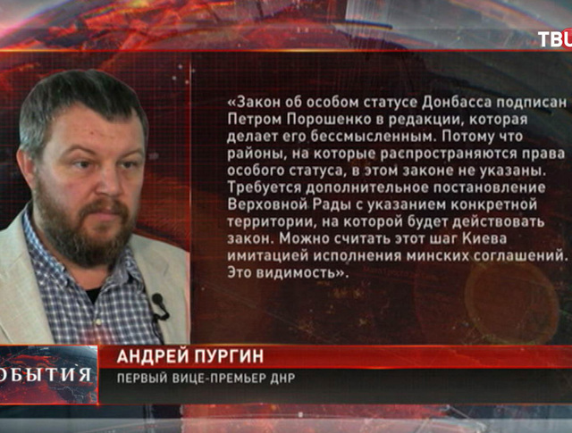 Андрей Пургин, первый вице-премьер ДНР