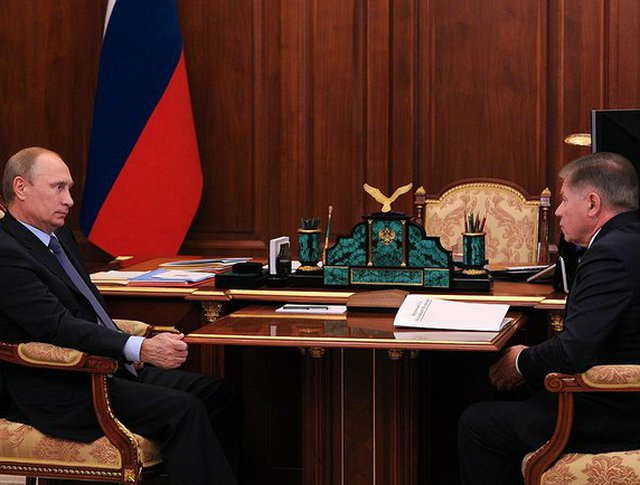 Владимир Путин с председателем Верховного суда Вячеславом Лебедевым