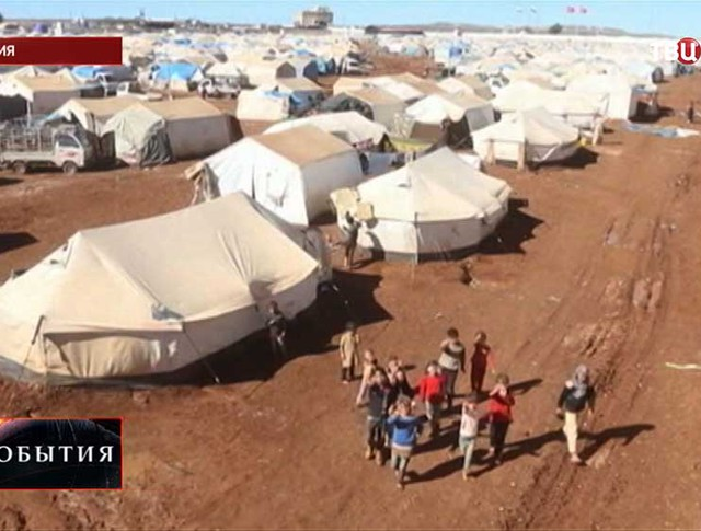 Городок беженцев в Сирии