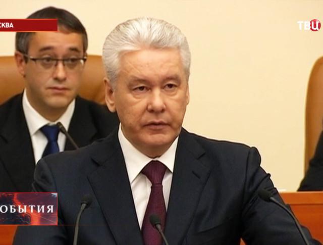 Мэр Москвы Сергей Собянин на заседании Мосгордумы