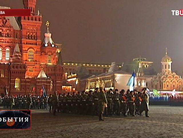 Генеральная репетиция парада на Красной площади