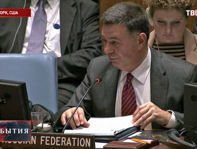Первый заместитель постоянного представителя РФ при ООН Александр Панкин