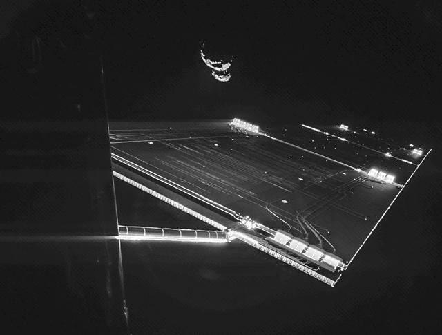 Вид на комету Чурюмова-Герасименко