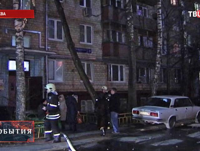 Пожарные на месте взрыва