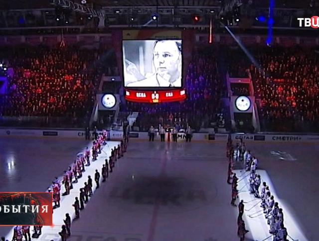 Прощание с легендарным хоккейным тренером Виктором Тихоновым