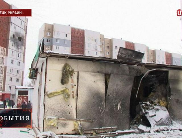 Результат артобстрела жилых районов Донецка