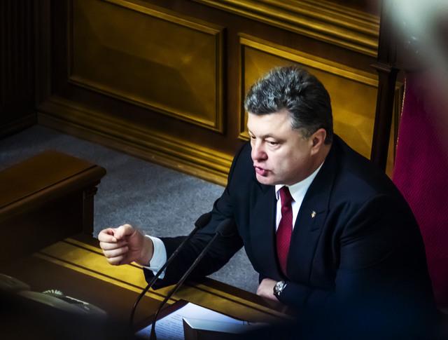 Президент Украины Петр Порошенко на заседании Верховной Рады