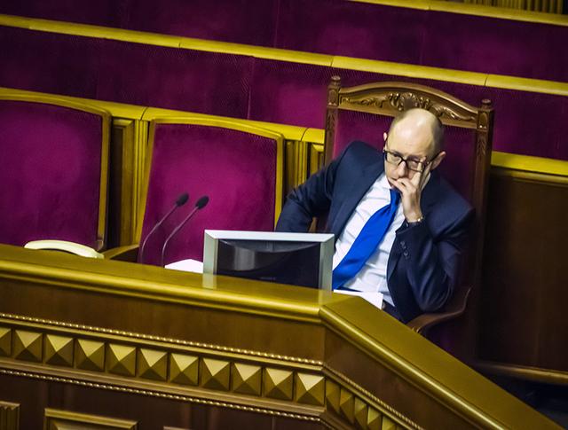 Арсений Яценюк на заседании Верховной Рады Украины