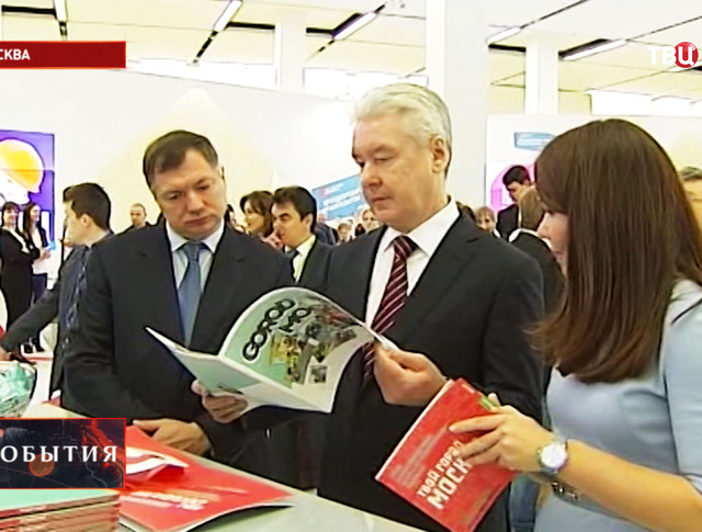 Мэр Москвы Сергей Собянин во время посещения московского урбанистического форума