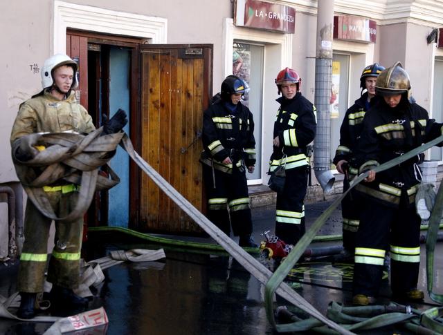 Пожарный расчет на месте происшествия