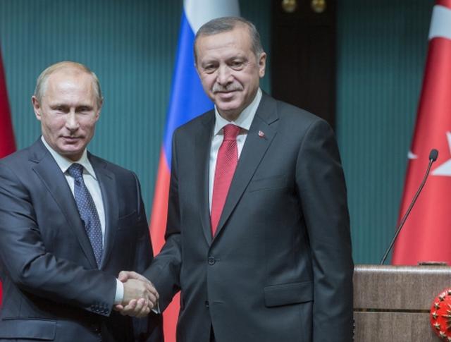 Президент России Владимир Путин и президент Турецкой республики Реджеп Тайип Эрдоган