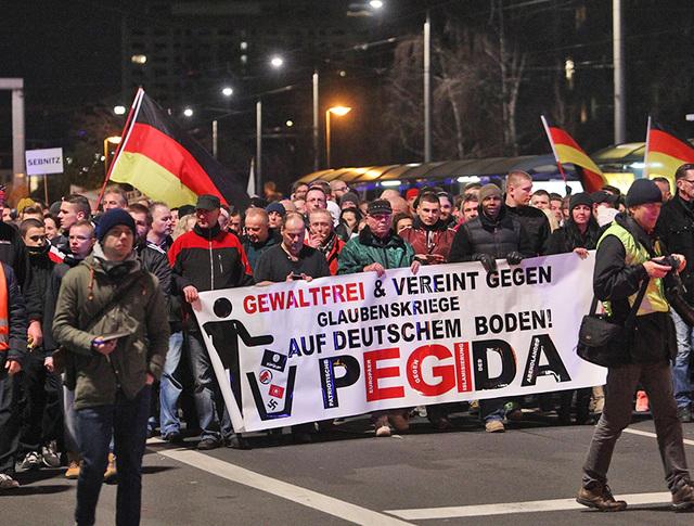 Митинг против исламизации Европы в Германии