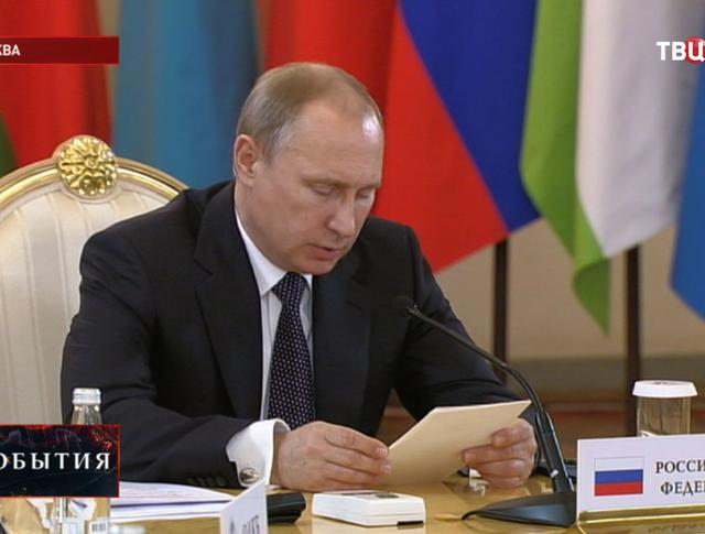 Владимир Путин на заседании саммита Организации Договора коллективной безопасности