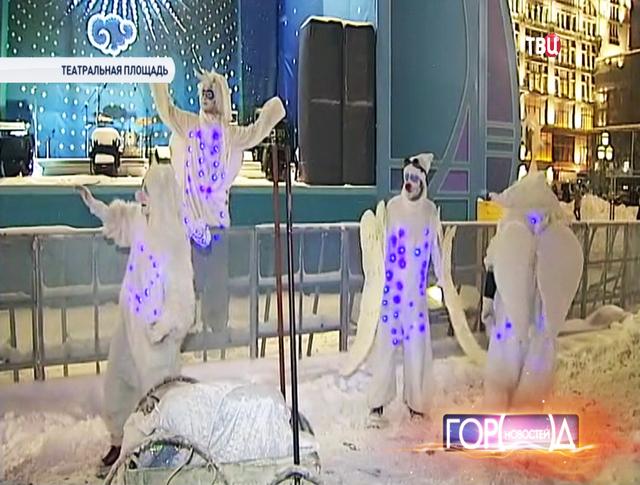 Парад ангелов на Театральной площади