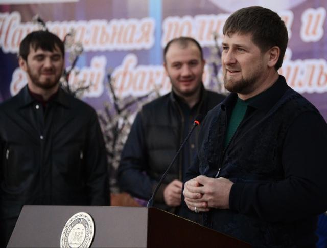 Глава Чеченской Республики Рамзан Кадыров на открытии Дома печати в Грозном