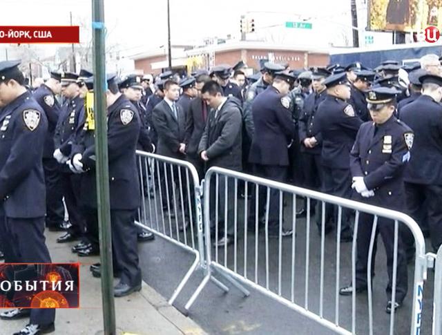 Акция протеста полицейских в США