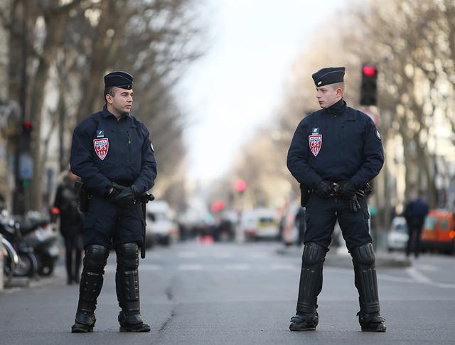 Полицейское оцепление в Париже