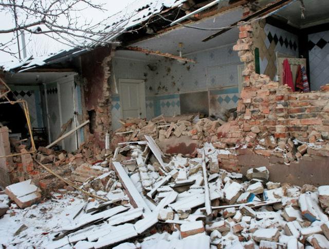 Последствя обстрела в Донецкой области