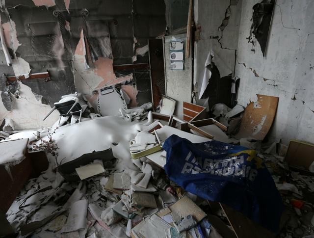 Результат артобстрела жилых кварталов Донецка