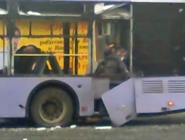 Результат артобстрела в Донецка
