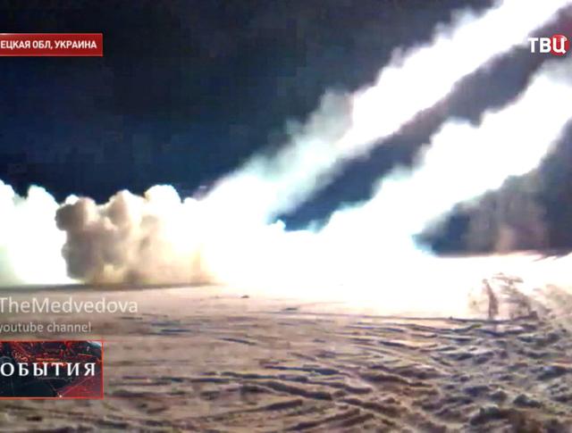 Результат артобстрела в Донецке