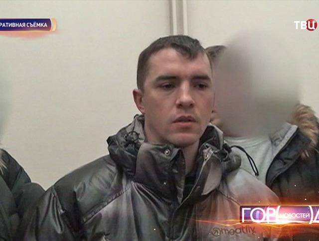 Задержанный преступик