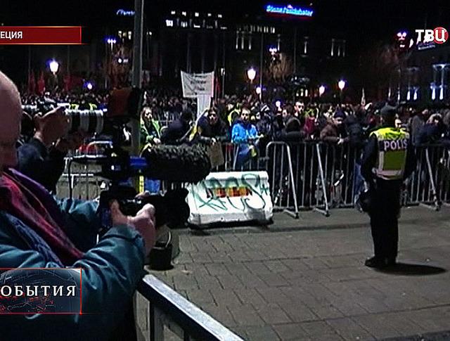 Митинг в Швеции