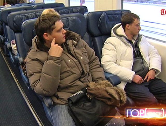 Пассажиры аэроэкспресса