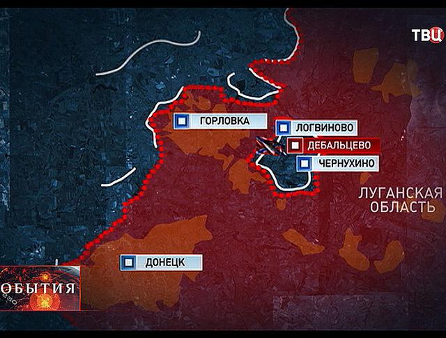 Боевые действия в Луганской области