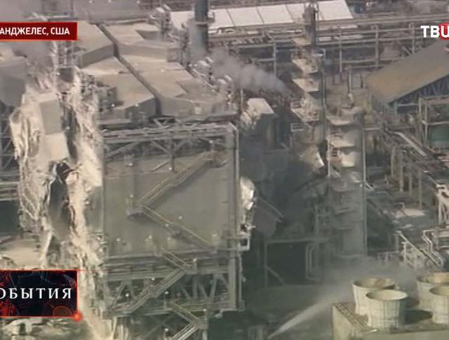 Взрыв на нефтеперегонном заводе в Лос-Анджелесе