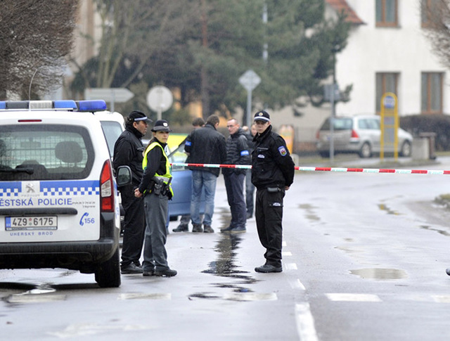 Полиция Чехии на месте происшествия
