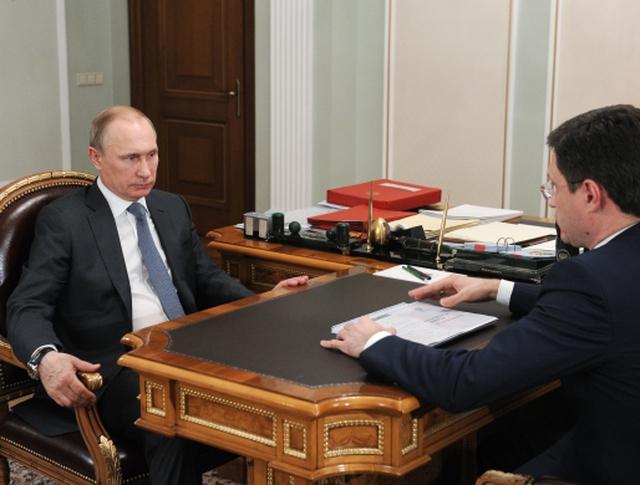 Президент РФ Владимир Путин и министр энергетики РФ Александр Новак во время встречи