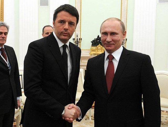 Владимир Путин и Маттео Ренци в Кремле
