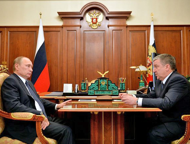 Президент России Владимир Путин и глава Республики Карелия Александр Худилайнен