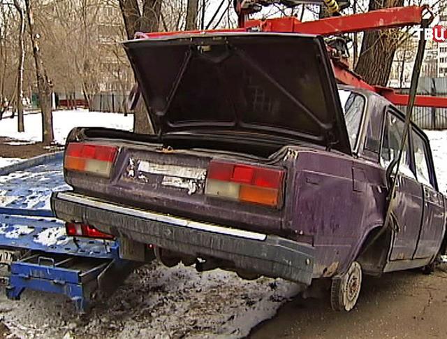 Эвакуация старой машины