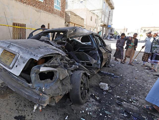 Последствия взрыва в Йемене