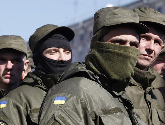 Бойцы украинского добровольческого батальона