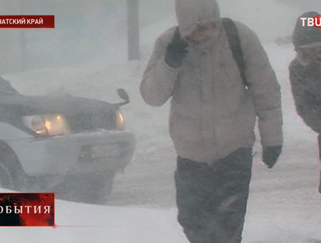 Снегопад на Камчатке