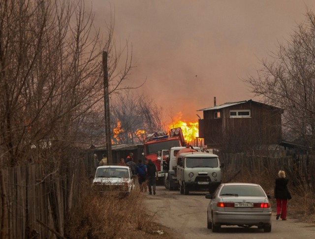 Пожары в Хакасии